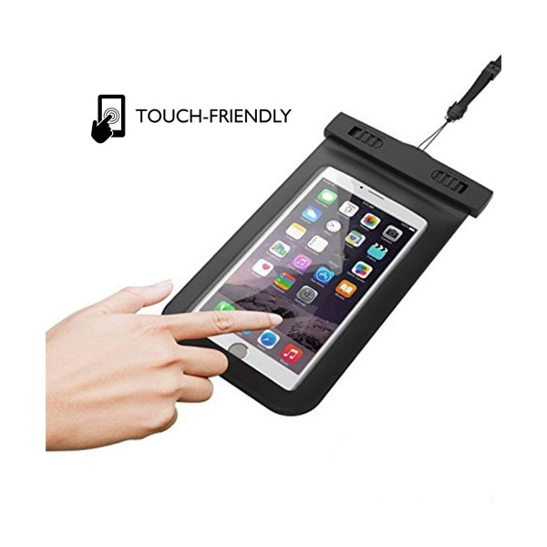GO LIFE Top Selling IP68 Waterproof Under Water Mobile Phone Touchscreen Transparent Pouch With Tag-4923