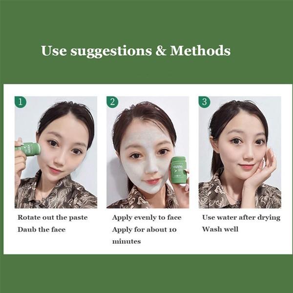 2021 Hot Selling Green Mask Blackheads Remover Stick 2Pcs-6146