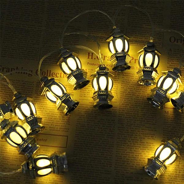 Eid Mubarak Decorative 3D Lantern LED String Lights-6013