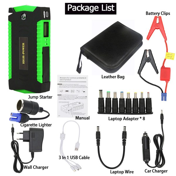 Portable Car Jumb Starter With Power Bank And Air Compressor-4874
