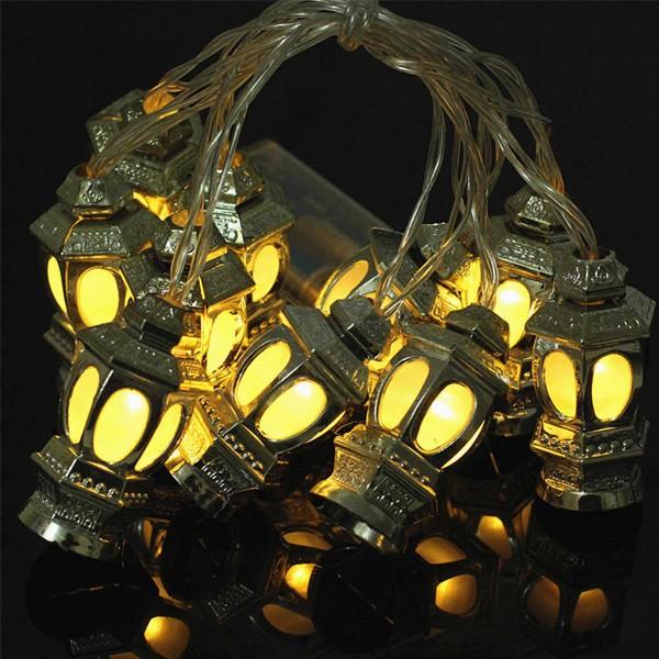 Eid Mubarak Decorative 3D Lantern LED String Lights-6014