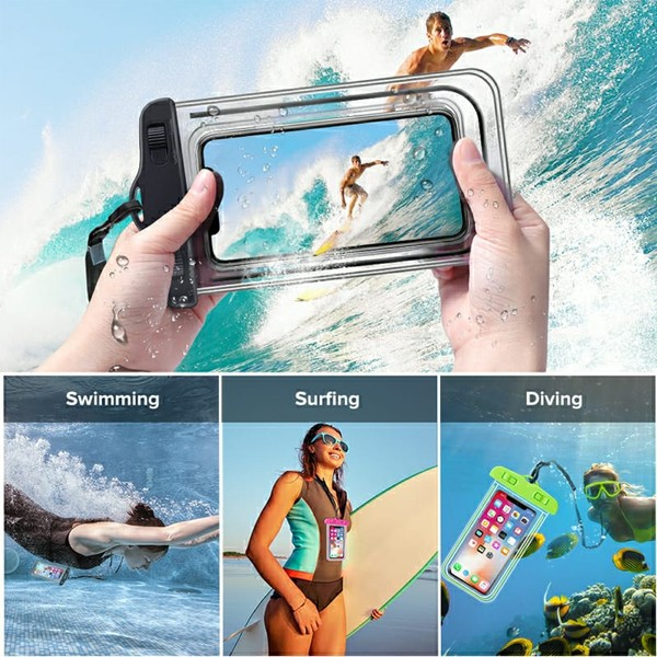 GO LIFE Top Selling IP68 Waterproof Under Water Mobile Phone Touchscreen Transparent Pouch With Tag-4973