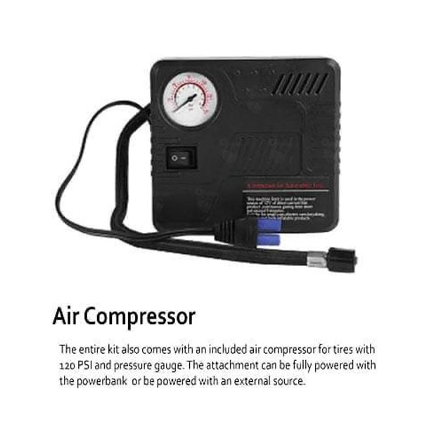 Portable Car Jumb Starter With Power Bank And Air Compressor-4871