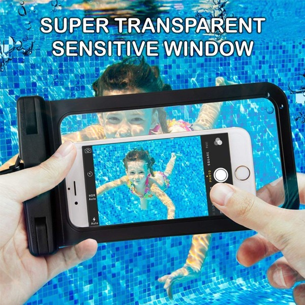 GO LIFE Top Selling IP68 Waterproof Under Water Mobile Phone Touchscreen Transparent Pouch With Tag-4924