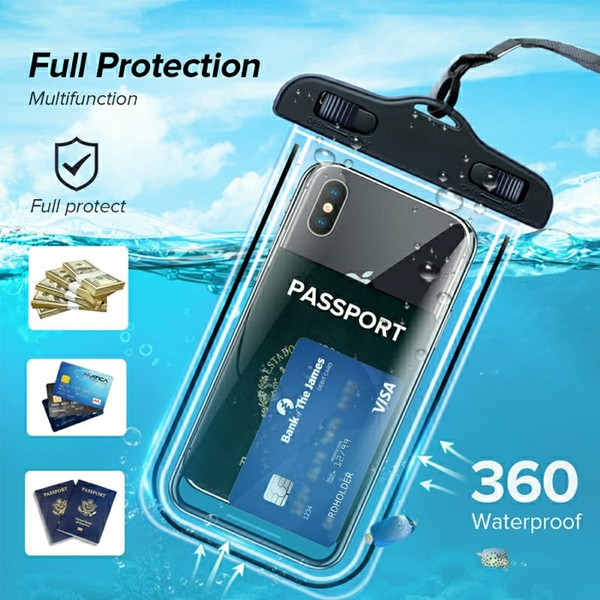 GO LIFE Top Selling IP68 Waterproof Under Water Mobile Phone Touchscreen Transparent Pouch With Tag-4977