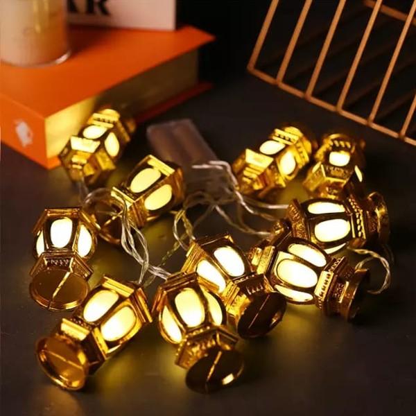 Eid Mubarak Decorative 3D Lantern LED String Lights-6015