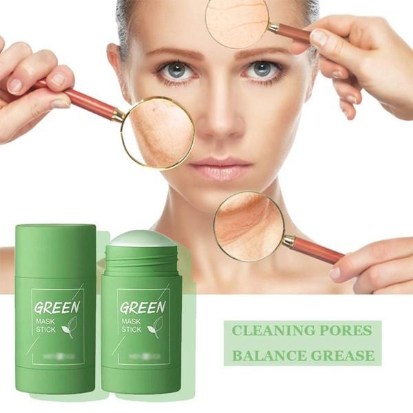 2021 Hot Selling Green Mask Blackheads Remover Stick 2Pcs-6145