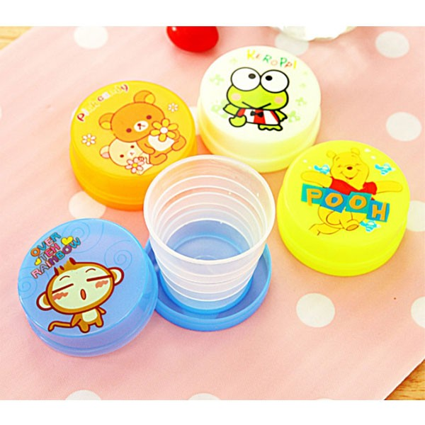 Folding Portable Collapsible Telescopic Plastic Cups, Assorted Color-4382