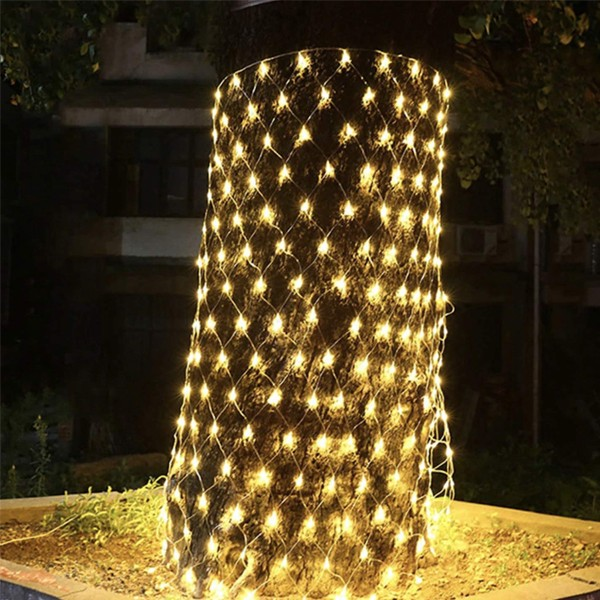 2021 Top Selling Fishnet LED decorative lights warm white with 8 modes 3.2 meters-4995