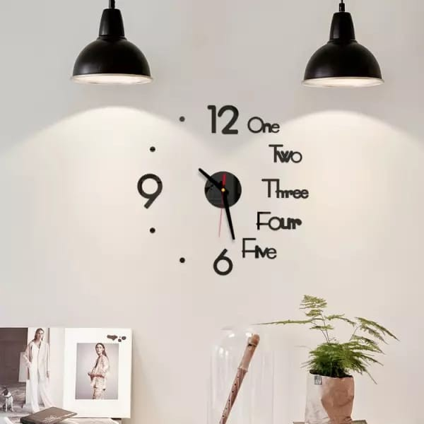 2021 Top Selling 3D Wallpaper Sticker Clock-6285