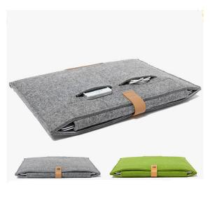 Wool Felt Laptop Bag Sleeve for Macbook Air Pro Retina and Notebook Cover Case (11.6 13.3 15.4 inches)-HV