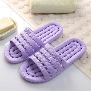 Mens And Womens Soft Bottom Non-Slip Slippers Purple-HV