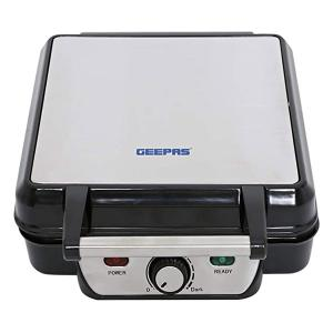 Geepas GWM5417 4 Slice Waffle Maker with Non-stick Surface 1100 Watts -HV