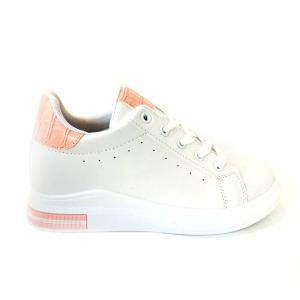Casual Sneakers White and Pink-HV