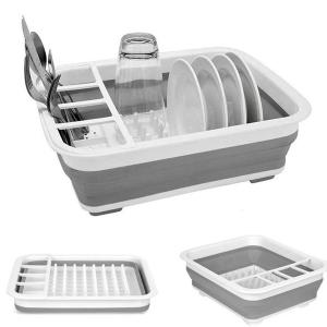 Collapsible Dish Drainer With Draining Board-HV