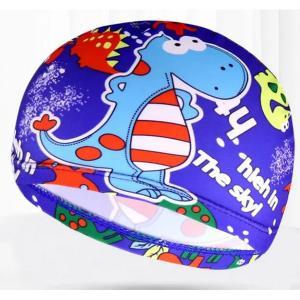 Children Cartoon Swimming Cap Interstellar Little Dinosaur-HV