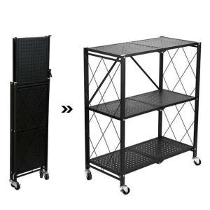 Kitchen Multifunctional Folding 3 Shelf Black GM539-HV