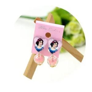 Childrens Cartoon Pierced Earrings Snow White-HV