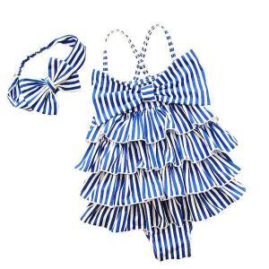 Striped Girl Baby Swimsuit-HV