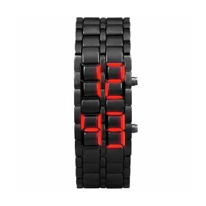Samurai Metal Bracelet LED Digital Watch for Men & Women-HV