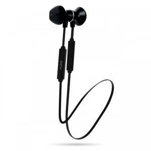 Puro BTIPHF08BLK Bluetooth Earphones V4.1 Magnet Pod Earphones Answer Button + Volume Black-HV
