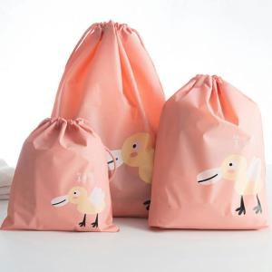 PEVA Waterproof Design High Quality Travel Bags 3 Pcs, Pink-HV