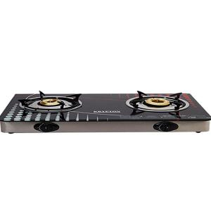 Krypton KNGC6014 Double Burner Gas Stove with Glass Top-HV