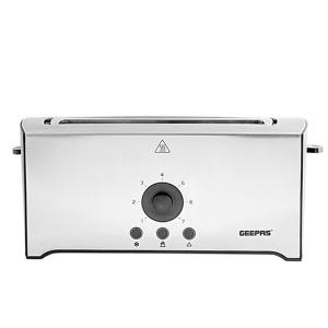 Geepas GBT6153 4 Slice Toaster Stainless Steel Bread Toaster With High Lift Function -HV