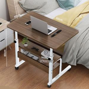 Small Laptop Table With 2 Shelfs Brown GM549-4-br-HV