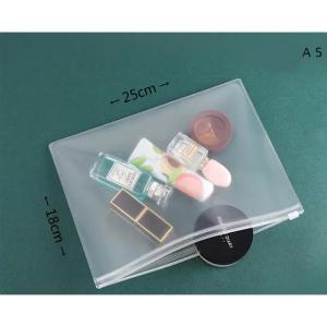 Frosted Transparent Zipper File Pocket A5 Frosted-HV