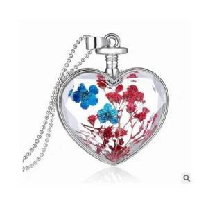 Heart Shaped Crystal Necklace-HV