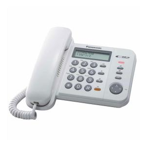 Panasonic KX-TS580MXW/MXB Corded Telephone With Caller ID and Auto Redial-HV