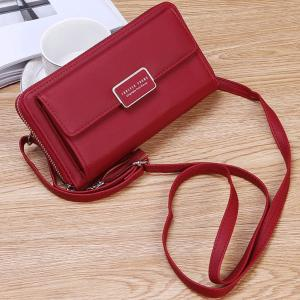 Forever Young Purse Fashion Wallet Korean Style 2 In 1 Slings Bag And Purse, Red-HV
