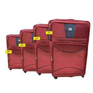 QTS Travelling Trolley 4pcs, Red-HV