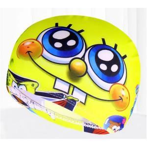 Children Cartoon Swimming Cap Smiling Spongebob-HV