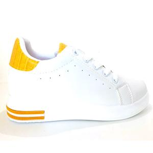 Casual Sneakers White and yellow -HV