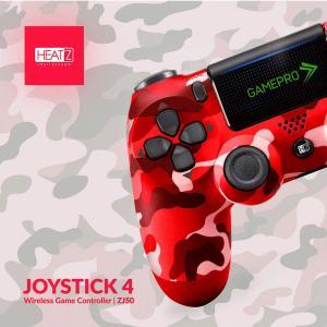 Heatz ZJ50 Joystick4 Gamepro Wireless Game Controller, Military Red-HV