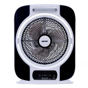 Geepas GF989 12-inch Rechargeable Fan with LED Light-HV
