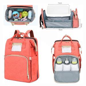 2 in 1 Multifunctional Baby Diaper Bag Backpack Orange GM276-5-o-HV