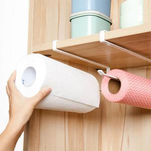 Iron Kitchen & Toilet Roll Paper Towel Holder-HV