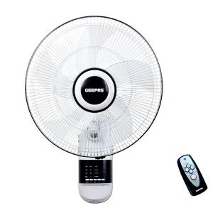 Geepas GF9479 16-Inch Wall Fan 3 Speed Settings With Timer Oscillating And Static Feature-HV