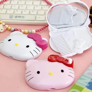 Hello Kitty Two-Piece Portable Folding Makeup Mirror-HV