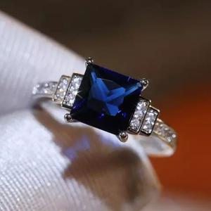 SIGNATURE COLLECTIONS Blue Zircon Luxury Ring SGR014-HV