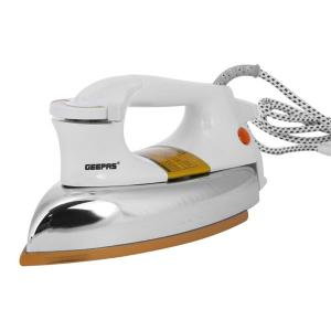 Geepas GDI23011 Heavy Weight Dry Iron Non Stick Sole Plate With Temperature Control, Indicator Lights,-HV
