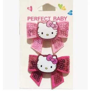 Hello Kitty Shiny Bow Hairpin Long Bowknot-HV