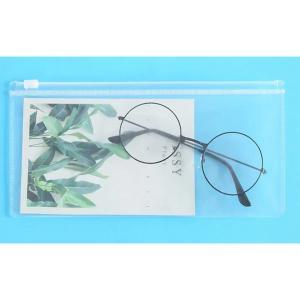 Frosted Transparent Zipper File Pocket Transparent Color -HV