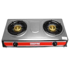 Geepas GK5605 2-Burner Stainless Steel Gas Cooker-HV