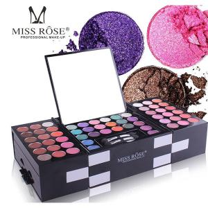 Miss Rose Pro Makeup Kit 142 Color with 4 Pcs Hair Styling Tools-HV