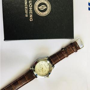 USB Lighter Watch, Brown and Silver-HV