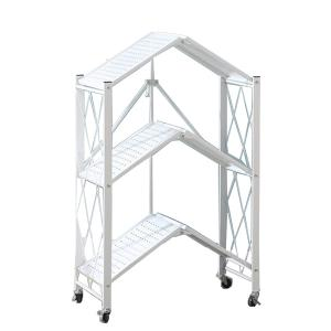 Kitchen Multifunctional Folding 3 Shelf White GM539-w-HV